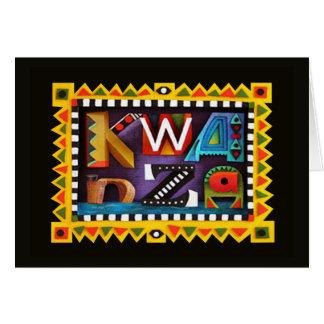 Cartões de cartões de natal de Kwanzaa do