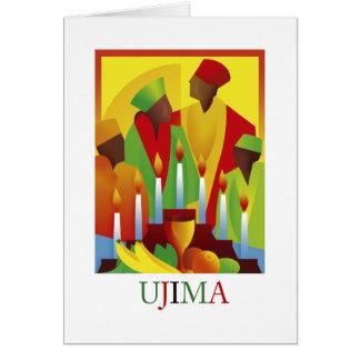 Cartões de cartões de natal de UJIMA Kwanzaa