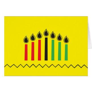 Cartões de cartões de natal modernos de Kwanzaa