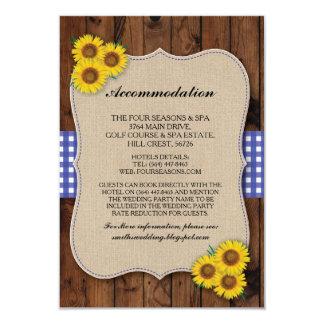 Cartões de casamento azuis de serapilheira da
