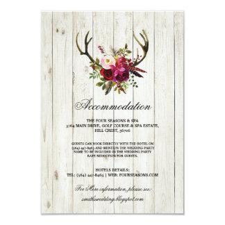 Cartões de casamento de madeira da acomodação