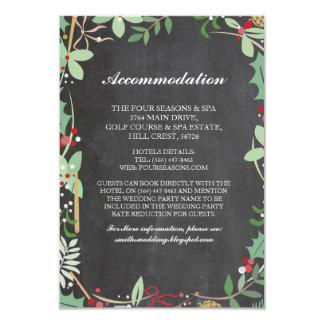 Cartões de casamento do giz do inverno do Xmas da Convite 8.89 X 12.7cm