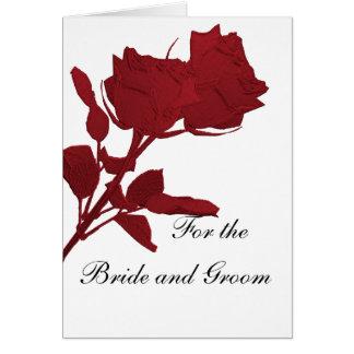 Cartões de casamento para os noivos