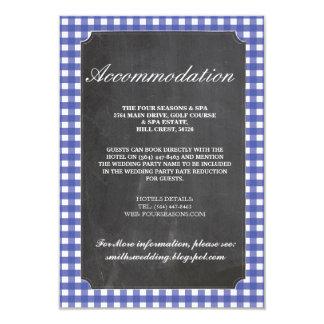 Cartões de casamento rústicos da acomodação da