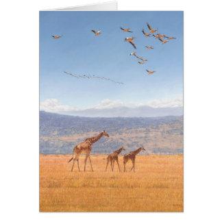 Cartões de cumprimentos da arte dos animais