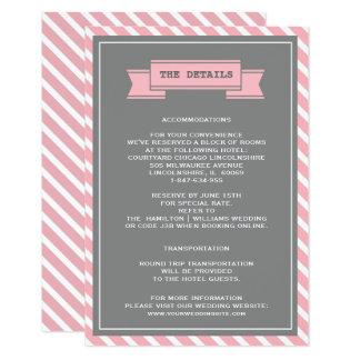 Cartões de detalhes cor-de-rosa & cinzentos do