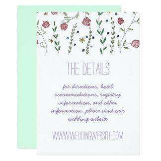Cartões de detalhes dos livros & das flores