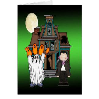 Cartões de Dracula o Dia das Bruxas do fantasma da