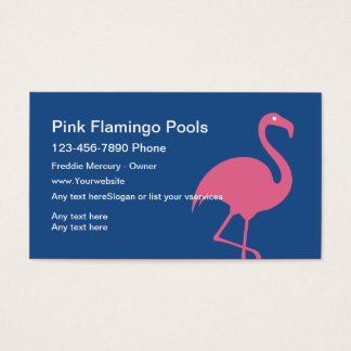 Cartões de empresa de serviços da piscina