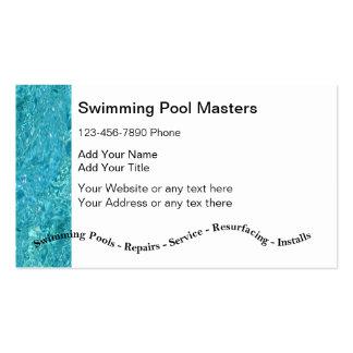 Cartões de empresa de serviços da piscina modelos cartões de visita