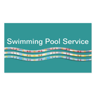 Cartões de empresa de serviços da piscina cartão de visita
