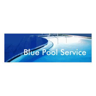 Cartões de empresa de serviços da piscina cartoes de visita