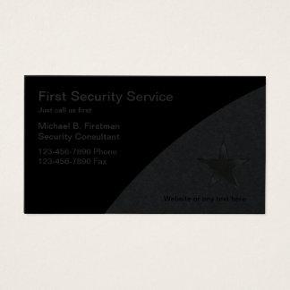 Cartões de empresa de serviços da segurança