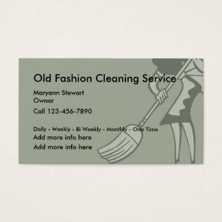 Cartões de empresa de serviços de limpeza formados