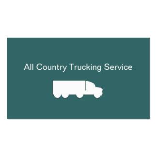 Cartões de empresa de serviços de transporte por cartão de visita