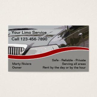 Cartões de empresa de serviços do Limo