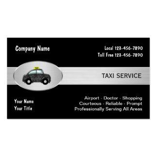 Cartões de empresa de serviços do táxi de táxi cartão de visita