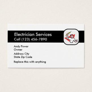 Cartões de empresa de serviços simples do