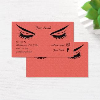 Cartões de empresa do maquilhador