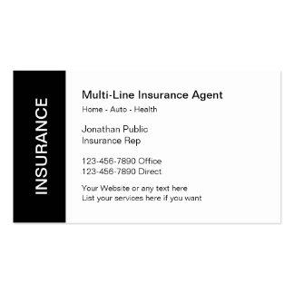 Cartões de empresa seguradora cartão de visita