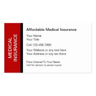 Cartões de empresa seguradora médicos cartão de visita