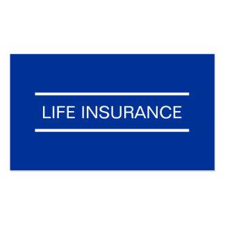 Cartões de empresa seguradora simples da vida cartão de visita