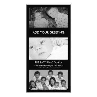 Cartões de foto de Natal - 3 fotos Cartoes Com Fotos Personalizados