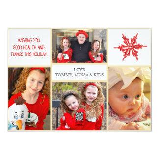 Cartões de foto de Natal - 4 fotos parte dianteira