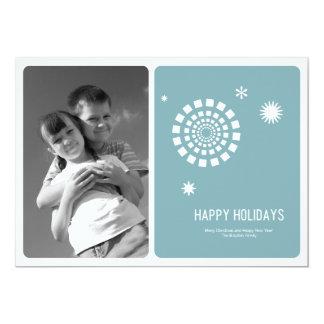 Cartões de foto de Natal 5x7 do Spirograph Convites Personalizado