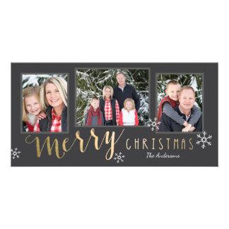 Cartões de foto de Natal alegres dos momentos