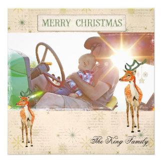 Cartões de foto de Natal ambarinos do fanfarrão Convites Personalizado