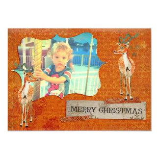 Cartões de foto de Natal ambarinos do fanfarrão Convite 12.7 X 17.78cm