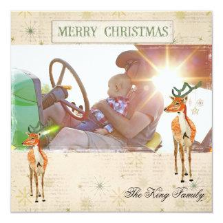 Cartões de foto de Natal ambarinos do fanfarrão Convite Quadrado 13.35 X 13.35cm