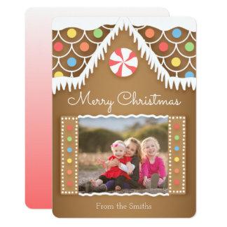 Cartões de foto de Natal bonitos da casa de