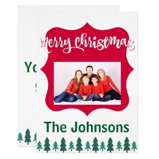 Cartões de foto de Natal brilhantes alegres