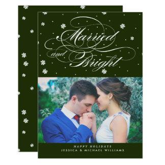 Cartões de foto de Natal casados & brilhantes