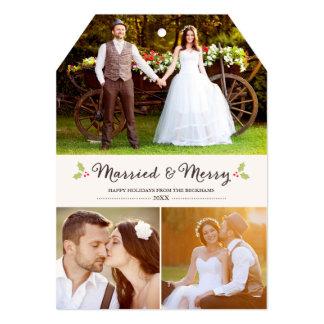 Cartões de foto de Natal casados e alegres do