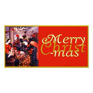 Cartões de foto de Natal centrados Jesus Cristo