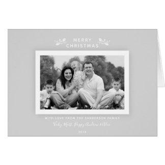 Cartões de foto de Natal cinzentos pálidos