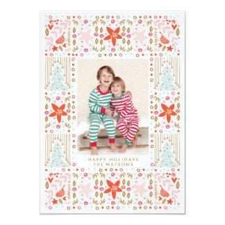 Cartões de foto de Natal coloridos bonito festivos