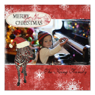 Cartões de foto de Natal cor-de-rosa do vermelho Convite Personalizados