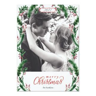 Cartões de foto de Natal da aguarela