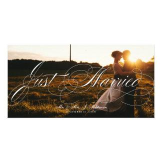 Cartões de foto de Natal do anúncio do casamento Cartoes Com Fotos