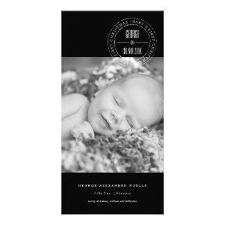 Cartões de foto de Natal do bebê clássico do selo Cartão Com Foto