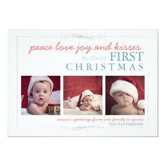 Cartões de foto de Natal do bebê da alegria do Convite 12.7 X 17.78cm