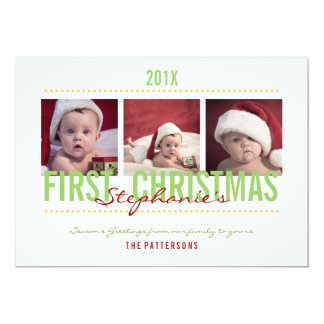 Cartões de foto de Natal do bebê os øs para o bebê Convite 12.7 X 17.78cm
