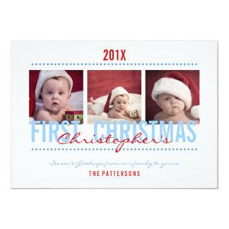 Cartões de foto de Natal do bebê os øs para o bebé Convite 12.7 X 17.78cm