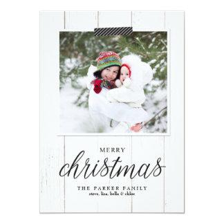 Cartões de foto de Natal do chique da casa da