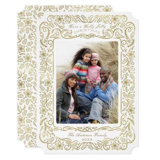 Cartões de foto de Natal do feriado do azevinho do