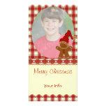 Cartões de foto de Natal do pão-de-espécie Cartao Com Foto Personalizado